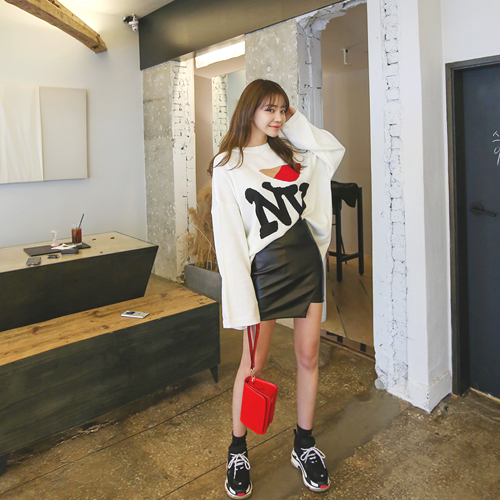 We meet, Skirt <br> <font color='gray'>Same day shipping on BlackM exclusive order</font>