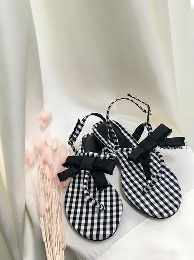 Ribbon Tie, Sandals