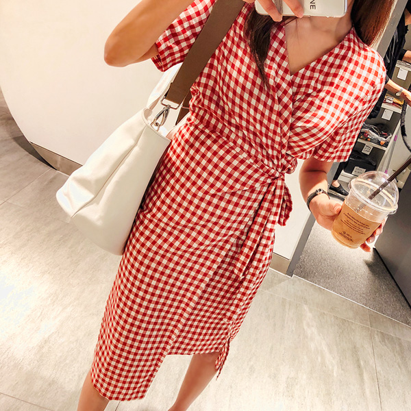 Lovely baby, Wrap dress <br> <font color='red'>★ As soon as you place your order jackpot !! ★</font>