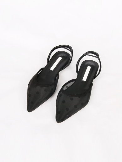 [SALE] Dot mesh, Sling backs (Fitting shoes 240)