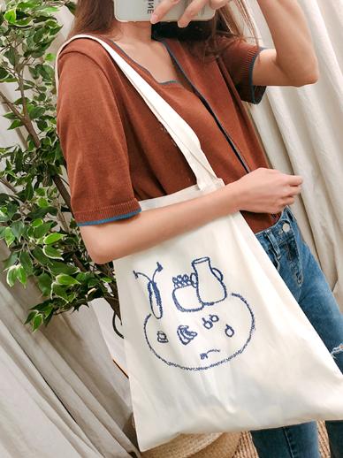 Circular table, Eco Bag