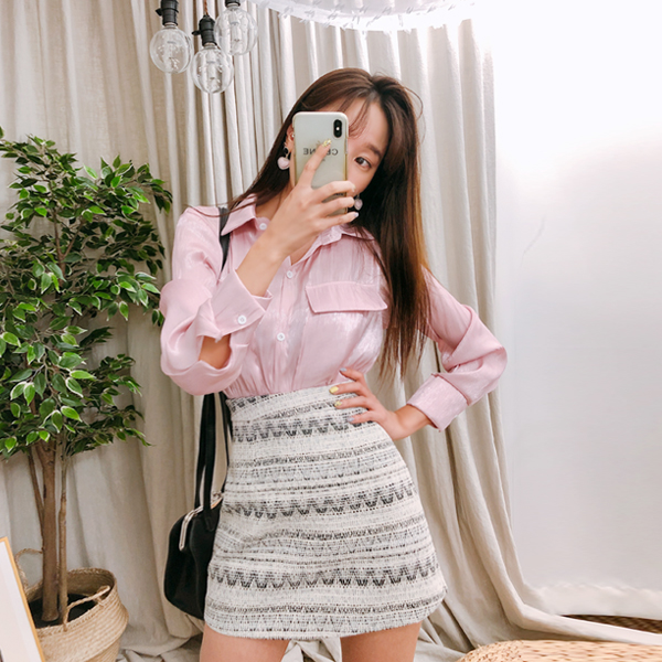 Pinky Punk, Blouse Skirt [Set]
