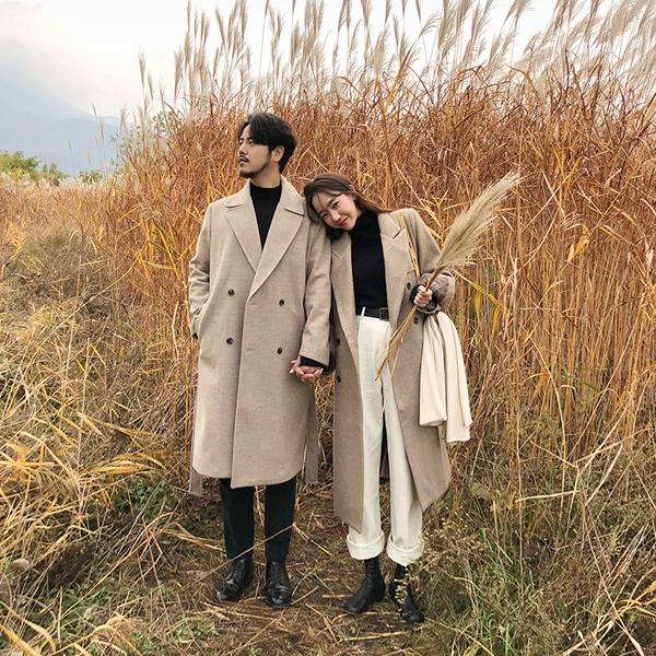 [KONGS_COUPLE] Duet Herringbone Long, Coat (ver.man)