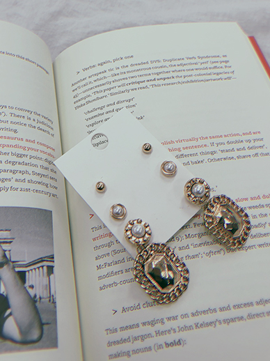 SQUARES, earring [Set] (Model JIWON)