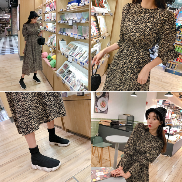 lovely, Leopard One Piece <br> <font color='red'>★ KONGS MD's Recommend item !! ★</font>