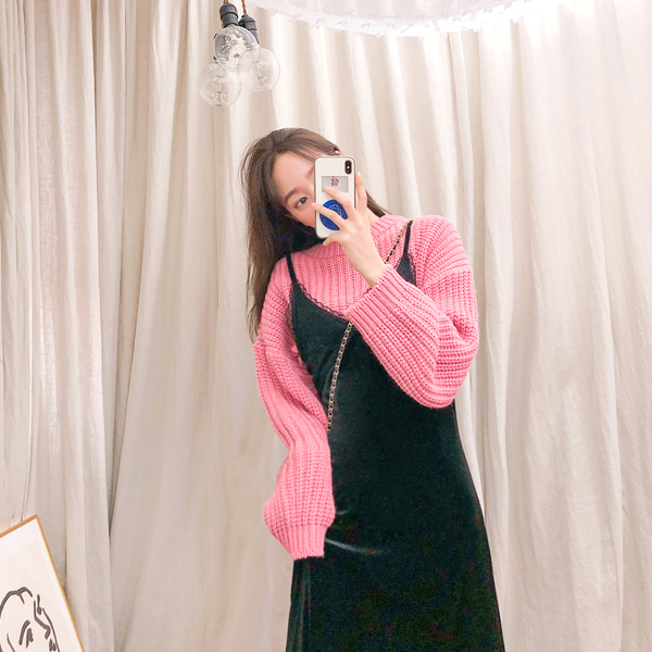 Race, Velvet Dress <br> <font color='red'>★ The best item in KONGSTYLE !! ★</font>