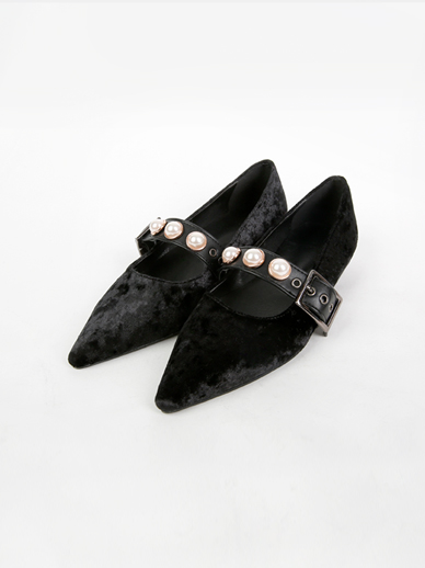 [SALE] Black pearl, Flat (Fitting shoes, 240)