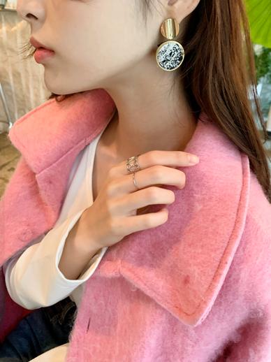 Circle Tweed, earring