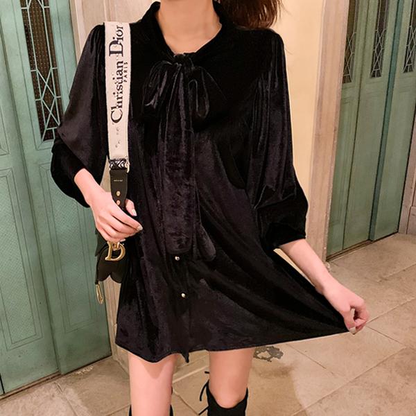 A, Velvet Dress