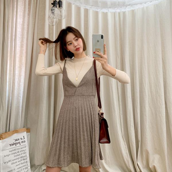 Lively, Dress + Knit [Set]