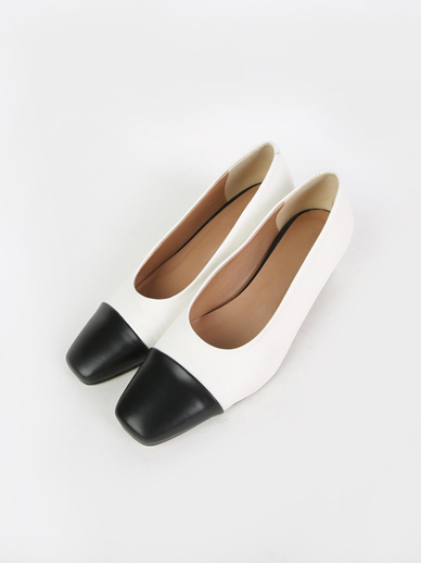 [SALE] Two tone, Middle heel (Fitting shoes, 240)