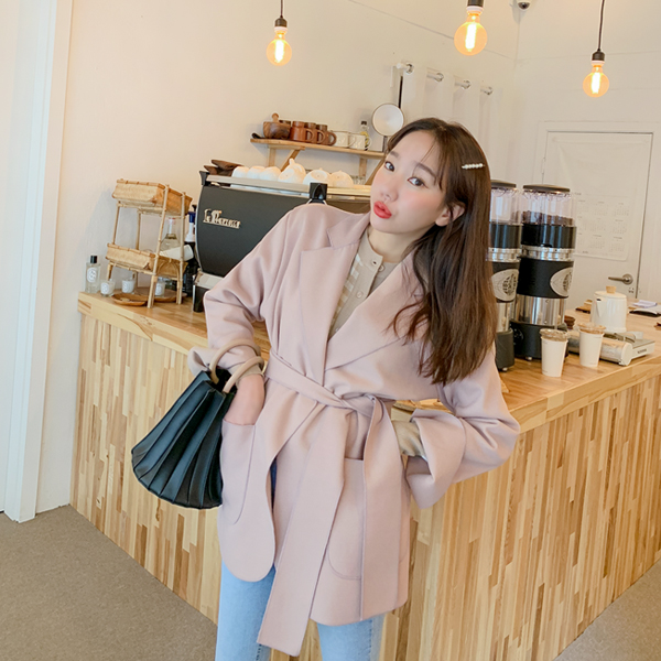 Pluto, Wool Jacket <br> <font color='red'>★ The best item in KONGSTYLE !! ★</font> <br> <font color='gray'>Pink / Gray Same day when ordering alone</font>