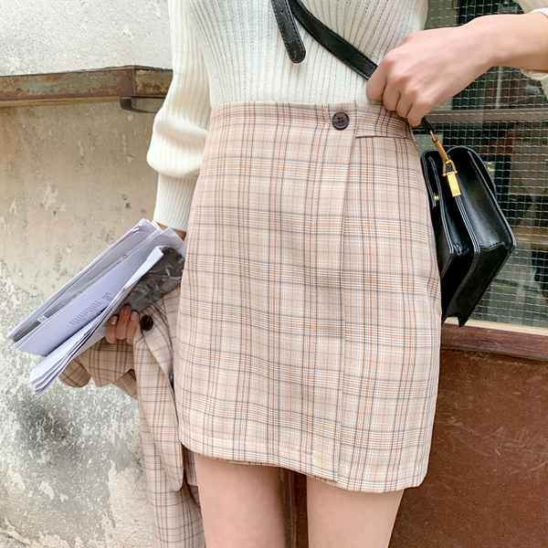 Jenny, Check Skirt <br> <font color='gray'>Same day when BrownS exclusive order is sent</font>